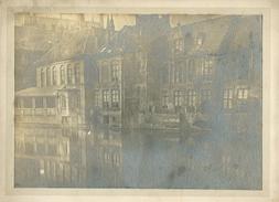 Brugge Bruges  Zeer Oude Originele Foto Op Hard Karton Photo ( 14 X 19 Cm) - Brugge