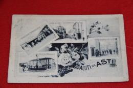 Asti Vedutine Con La Stazione Station Gare Bahnhof 1918 Ed. Sacerdote - Asti