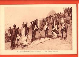 D1353  Région De Bongor, Sur Le Logone Une Chasse Heureuse. Indigènes Et Aligator. . Non Circulé - Tchad