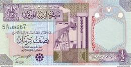 LIBYA 1/2 DINAR ND (2002) P-63 UNC [ LY527a ] - Libië