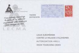 France PAP Réponse Lamouche 0507029 LIGUE EUROPEENNE CONTRE LA MALADIE D'ALZHEIMER - Prêts-à-poster:Answer/Lamouche