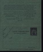 Entier Carte Lettre Pneumatique Papier Bleu Vert Chaplin 1.5F Violet Date 652 Storch P313 N1