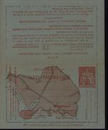 Entier Carte Lettre Pneumatique Marseille Papier Bleu Vert Signature Chaplain Orange 1.5F Plan Marseille Cote 225 Euros