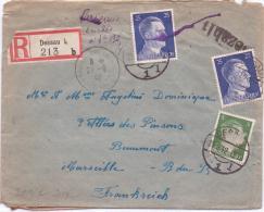KRIEGSGEFANGENEN Bzw. ZWANGSARBEITER POST  Aus Dessau / Sachsen-Anhalt  1942 - Dessau