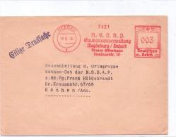 """Geschäftspost """"NSDAP Gaukassenverwaltung Dessau"""" DESSAU / Anhalt - Gelaufen 1936 - Dessau"""