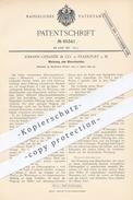 Original Patent - J. Urbanek & Co. , Frankfurt / Main  1892 , Werkzeug Zum Glasschneiden   Glasschneider , Glas , Glaser - Documenti Storici