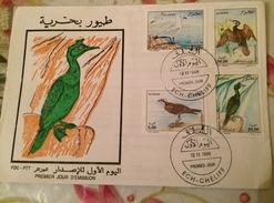 ALGERIE-FDC+ NOTICE OFFICIELLE-OISEAUX MARINS-1998 - Albatrosse & Sturmvögel