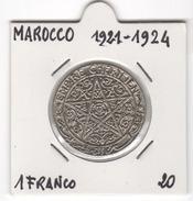 Marocco, 1 Franco 1921/24. - Maroc