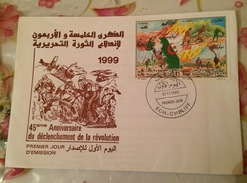 ALGERIE-FDC ( Timbres Se Tenant)+ NOTICE OFFICIELLE-BATAILLE DE ZAATCHA-1999 - Histoire