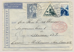 Nederland - Nederlands Indië - 1934 - Uiver Cover Met MacRobertson Race  Van Rotterdam Naar Medan - Niederländisch-Indien