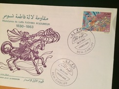 ALGERIE-FDC + NOTICE OFFICIELLE-RESISTANCE FADHMA N'SOUMER-1830-1863 - 2000 – Hanover (Germany)