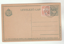 1916 HUNGARY 3fl Stamps On UPRATED 5fl Postal STATIONERY CARD With ROYAL EVENT Pmk Royalty Cover - Covers & Documents