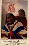 Indians Eagle Feather And Papoose Sioux 1905 - Indios De América Del Norte