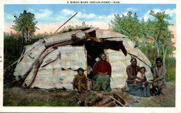INDIENS - NATIVE AMERICANS - A BIRCH BARK INDIAN HOME - Indios De América Del Norte