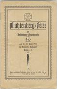 D104 Offizielle Einladung 1925 Mühlenberg-Feier Infanterie-Regiment 453 Halle Saale Gedächtnisfeier Gefallene WW1 - Dokumente