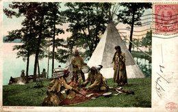 1908  THE MOCCASIN GAME - Indios De América Del Norte