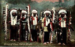 GROUP OF SIOUX INDIAN CHIEFS - Indios De América Del Norte