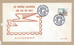 Portugal FDC First Day Cover Sobrescrito 1º Dia XX Philatelic Exhibition Alhandra Portugal 1973 Mostra Filatélica - FDC