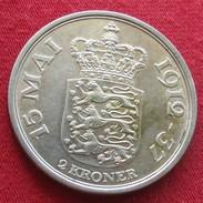Denmark 2 Krone 1937 - 15 Mai Danmark Dinamarca - Dinamarca