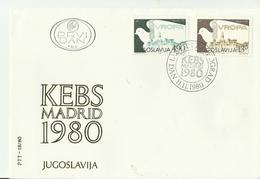 JUGOSLAWIEN  FDC1980 EUROPA - FDC