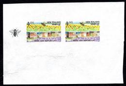 New Zealand Wine Post Bees Imperfs On Handmade Paper. - New Zealand