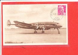 AVION LOCKEED CONSTELLATION Cpa Sur Ligne Air France    225 P 4 48 Edit Havas - 1946-....: Ere Moderne