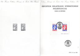 """Document Philatélique Officiel De 4 Pages De 1982 N° YT BF 8 """" PHILEXFRANCE 1982 """" En Parfait état ! - Postdokumente"""