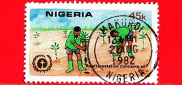 NIGERIA  - Usato - 1982 - 10 Anni Della Conferenza Sull´Ambiente - Reafforestation Concerns All - 45 - Nigeria (1961-...)