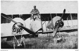 CARTE DOCUMENT   G. D. E. LE PLESSIS BELLEVILLE   JACQUES BEGOUEN PILOTE   SUR CAUDRON G4 AVEC MOTEURS ROTATIFS  EN 1917 - Non Classés