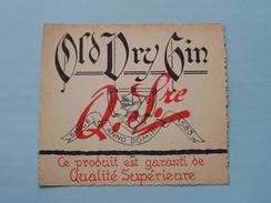 Old Dry Gin Q. Sre ( Details Op Foto ) !! - Autres