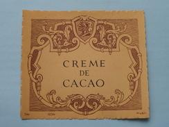 CREME De CACAO ( Dep 1034 MvdH : Details Op Foto ) !! - Autres