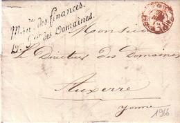 PARIS - FRANCHISE - MINIre DES FINANCES.Dion Gales DES DOMAINES - LE 4-12-1840 - AVEC TEXTE . - Marcophilie (Lettres)