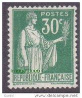 France Type Paix - N°  280 (** Lire Ma  Description) De La 2ème Série 30c Vert - 1932-39 Paix