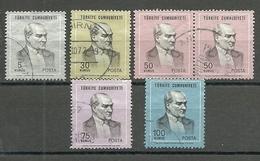 Turkey; 1970 Regular Issue Stamps (Complete Set) - 1921-... República