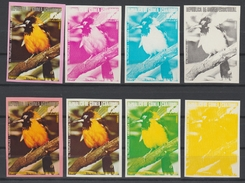 GUINEE EQUATORIALE  IMPERF.PROGRESSIVE COLOR TRIAL PROOFS  OISEAUX/BIRDS  **MNH  Réf  H209 T - Uccelli