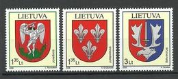Litauen 2008 Michel 992 - 994 MNH Wappen Coat Of Arms - Lituania