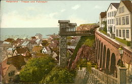 AK Helgoland, Treppe Und Fahrstuhl, Um 1906 (9804) - Helgoland