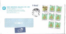 Malaysia Registered Airmail 1994 Tropical Fruits Ananas Comosus, Nanas 50 Sen, Garcinia Mangostana - Frutta