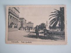 CARTOLINA CIVITAVECCHIA - VIALE GARIBALDI - Civitavecchia