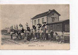CPA - 51 - AMBONNAY - La Gare - Gros Plan Ouvriers Travaillant Sur Les Voies - Autres Communes