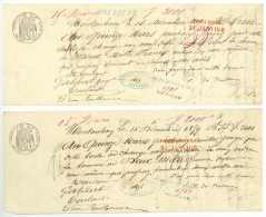 MONTAUBAN 4 Lettres De Change Toulouse 1859 DE BUISSON Galibert 4 X 2000 Francs - Assegni & Assegni Di Viaggio