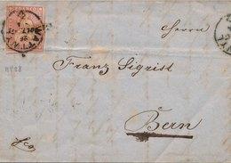 Lettre 15 Rappen Streubel CaD Wattwill Pour Bern 1857 - 1854-1862 Helvetia (Non-dentelés)