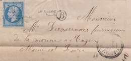 LETTRE.   17 AVRIL 1862.  N° 14.  T22.   TARN-&-GARONNE  VERFEIL-S-SEYE.  PC 3900.   BOITE RURALE   B =  LA GUEPIE.  / 2 - Marcophilie (Lettres)