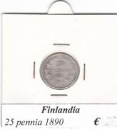 FINLANDIA   25 PENNIA  1890  COME DA FOTO - Finlandia