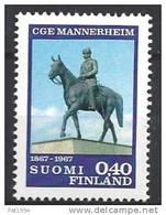 Finlande 1967 N°596 Maréchal Mannerheim