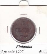 FINLANDIA   5 PENNIA  1907  COME DA FOTO - Finlandia