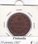 FINLANDIA   10 PENNIA  1907  COME DA FOTO - Finlandia