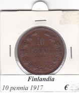 FINLANDIA   10 PENNIA  1917  COME DA FOTO - Finlandia