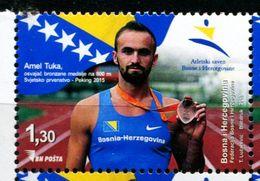 XD0105 Bosnia And Herzegovina 2016 Beijing World Championships Sprint 1v MNH - Bosnien-Herzegowina