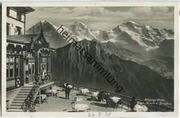 Schynige Platte - Eiger - Mönch - Jungfrau - Foto-Ansichtskarte Ca. 1930 - Verlag Schild-Bichsel Brienz - BE Berne